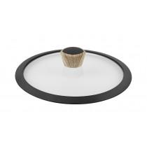Καπάκι Γυάλινο με Στεφάνη Σιλικόνης GRANITE 28cm