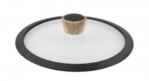 Καπάκι Γυάλινο με Στεφάνη Σιλικόνης GRANITE 24cm